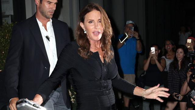 Caitlyn Jenner Steps Out In NYC Wearing Figure-Hugging Black Bandage Dress