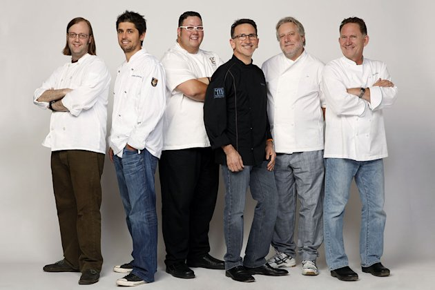 "Chefs Wylie Dufresne, Ludo Lefebvre, Graham Elliot Bowles, Rick Moonen, Jonathan Waxman, Mark Peel compete in the second season of ""Top Chef: Masters."""