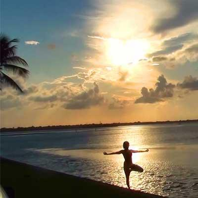 Sunset Tree Pose
