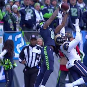 Seattle Seahawks wide receiver Paul Richardson catches 32-yard pass from quarterback Russell Wilson