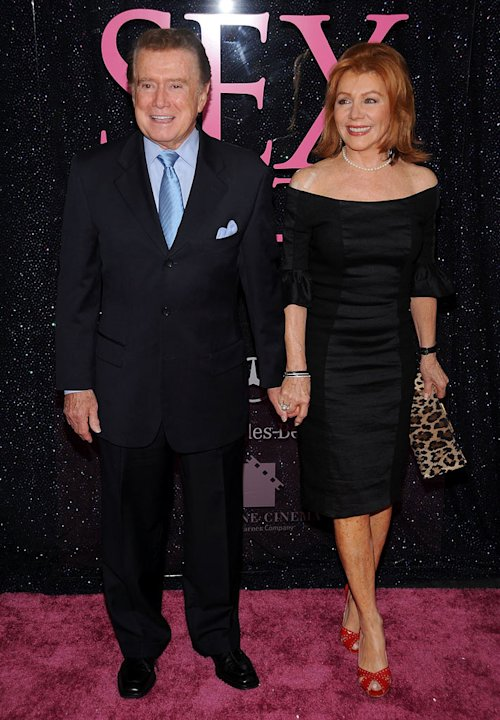 Regis Philbin and Joy Philbin attend the premiere of &quot;Sex and the City: The Movie&quot; at Radio City Music Hall on May 27, 2008 in New York City. 