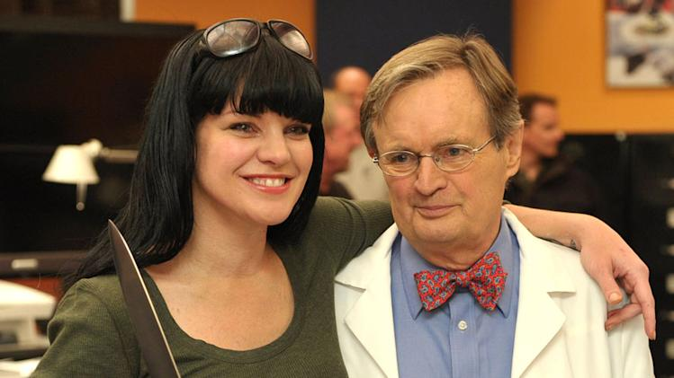 "Pauley Perrette and David McCallum attend CBS' ""NCIS"" celebration of their 200th episode on January 3, 2012 in Valencia, California."
