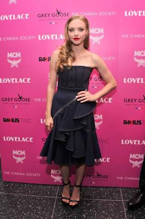 Amanda Seyfried attends The Cinema Society and MCM with Grey Goose screening of Radius TWC's 'Lovelace' at MoMA on July 30, 2013 in New York City -- Getty Images