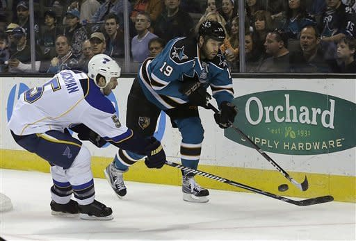 Blues rally to beat Sharks 4-3 in OT