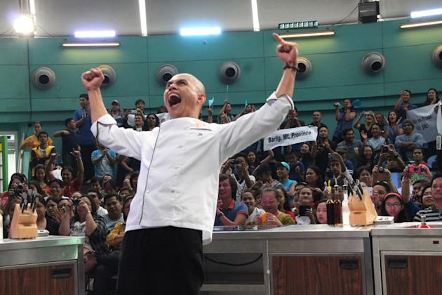 The winning moment of JR Royol as first Pinoy MasterChef