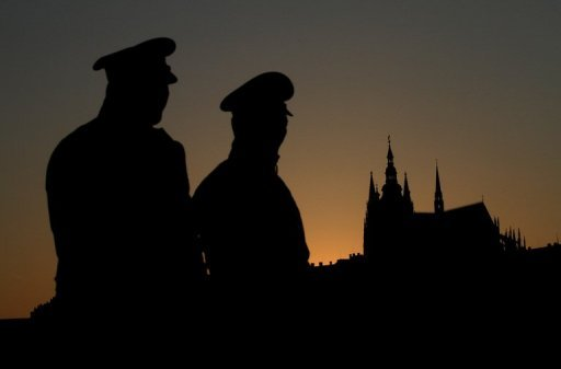 <p>Czech policemen stand guard near Prague's castle on April 7, 2010. Police in the Czech Republic have arrested a man who sympathised with Norwegian mass killer Anders Behring Breivik and was likely planning a bomb attack, authorities said Saturday.</p>