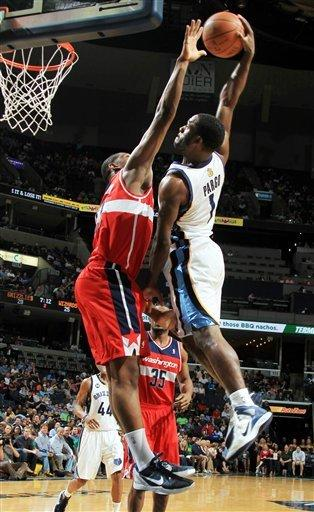 Gay helps Grizzlies get by Wizards, 97-92