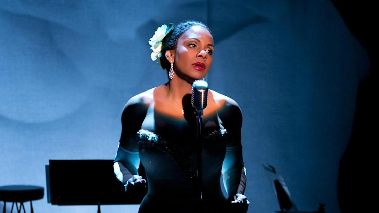 "This photo provided by Jeffrey Richards Associates shows Audra McDonald as Billie Holiday in ""Lady Day at Emerson's Bar & Grill"". McDonald has propelled her new Broadway show into profitability. Producers of the play ""Lady Day at Emerson's Bar & Grill"" said Tuesday that they've recouped their $2.6 million initial investment. In the show, McDonald portrays Billie Holiday in one of her last concerts, offering stories and performing about a dozen of Holiday's best known songs, including ""God Bless the Child,"" ""What a Little Moonlight Can Do,"" and ""Strange Fruit."" (AP Photo/Jeffrey Richards Associates, Evgenia Eliseeva)"