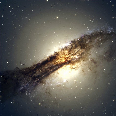 Centaurus A &#39;ate&#39; a smaller galaxy - one like our own Milky Way (Image: Harvard)