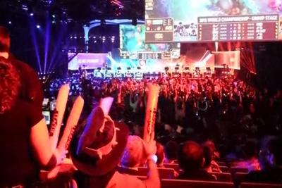 The atmosphere at the League of Legends World Championships is fantastic