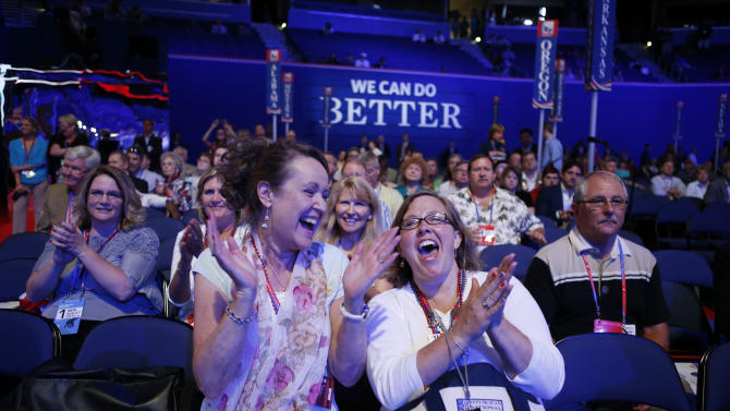 Between convention speeches come the campaign ads