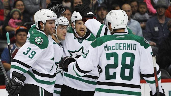 Sceviour scores 3 goals to lead Stars over Avs 5-3