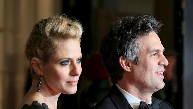 Actor Mark Ruffalo and his wife Sunrise Coigney arrive at the British Academy of Film and Television Arts (BAFTA) Awards at the Royal Opera House in London