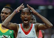Britain's Mohamed Farah celebrates after winning the men's 5000m final at the London 2012 Olympic Games on August 11. By entering both the 10,000m and 5,000m, Mo Farah was attempting to join the elite band of six long-distance runners who have pulled off the double at an Olympics -- and he did it, becoming a national hero in the process