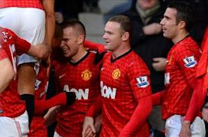 Manchester United 3-1 Sunderland: Rooney and Van Persie restore six-point gap over City