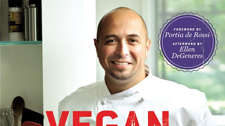 """This book cover image released by Grand Central Publishing shows """"Vegan Cooking for Carnivores,"""" by Roberto Martin. (AP Photo/Grand Central Publishing)"""