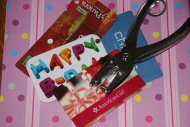 Get crafty with old gift cards.