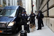 Police stand in front of the Federal Reserve Bank in New York City. A Bangladeshi man with alleged al-Qaeda links was arrested on Wednesday in New York on charges of trying to use a 1,000 pound bomb to destroy the city&#39;s Federal Reserve building