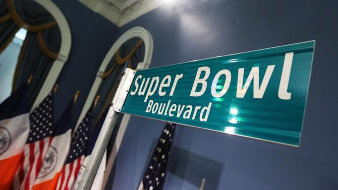 Mayor Bloomberg And NFL Commissioner Goodell Discuss 2014 Super Bowl Plans