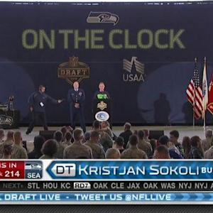 Seattle Seahawks pick defensive tackle Kristjan Sokoli No. 214 in 2015 NFL Draft
