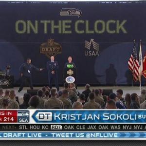 Seattle Seahawks pick defensive tackle Kristjan Sokoli No. 214 in 2015 NFL Draft