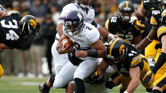 Iowa beats Northwestern 17-10 in OT