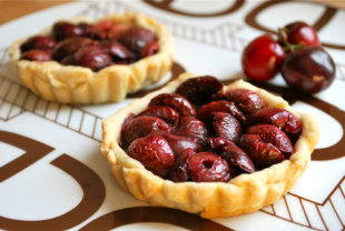 Fresh Cherry Tartlets