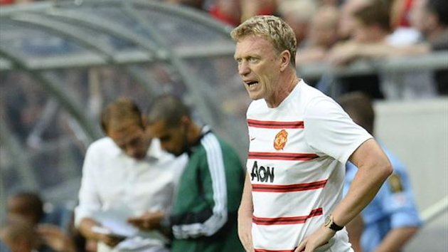 Manchester United manager David Moyes reacts during the friendly againt AIK at the Friends Arena in Solna, near Stockholm (AFP)