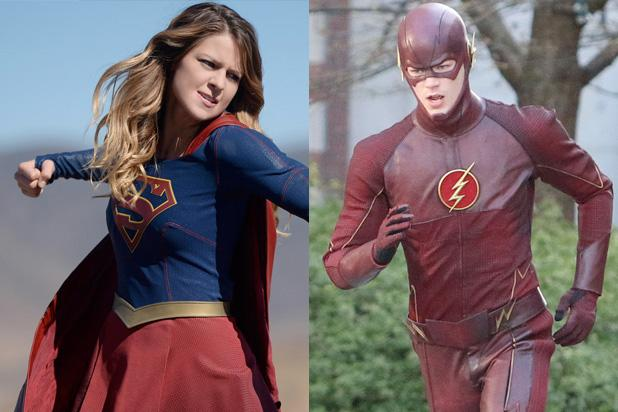 Grant Gustin Shares First Look at 'Flash'-'Supergirl' Crossover (Photo)