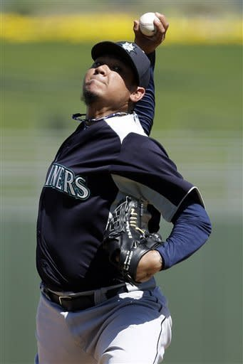 King Felix allows 1 run in 1st spring start