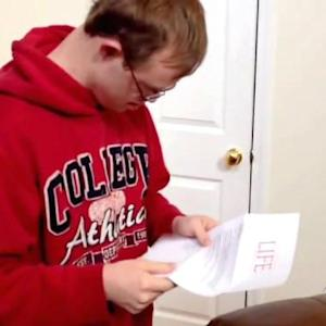 College hopeful opens the letter of his dreams