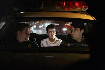 Seth Rogen , Christopher Mintz-Plasse and Bill Hader in Columbia Pictures' Superbad