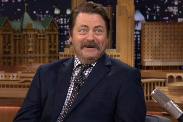 Nick Offerman Tells Jimmy Fallon Tears Were Shed on 'Parks and Rec' Finale (Video)