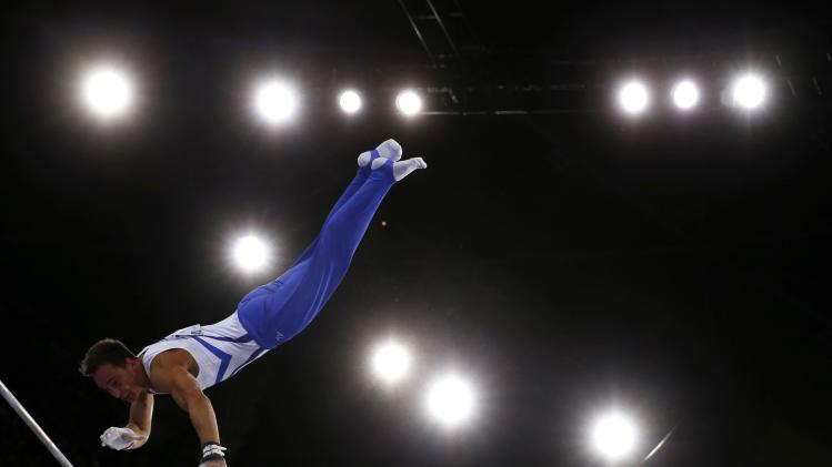 Scotland's Daniel Keatings competes in men's All-Around Artistic Gymnastics at 2014 Commonwealth Games in Glasgow