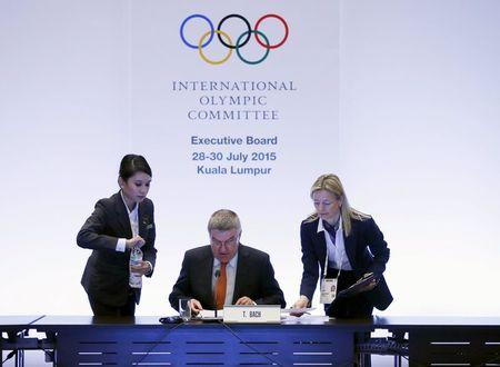 President of the IOC Thomas Bach prepares to host an executive board meeting ahead of Friday's vote for the host cities of the 2022 Olympic Winter Games and 2020 Youth Olympic Winter Games in Kuala Lumpur