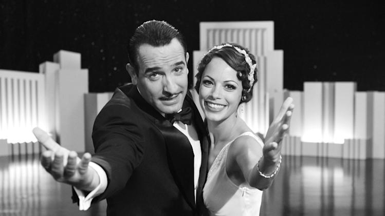 "FILE-   In this file film publicity image released by The Weinstein Company, Jean Dujardin portrays George Valentin, left, and Berenice Bejo portrays Peppy Miller in a scene from ""The Artist.""   (AP Photo/The Weinstein Company, FILE)"
