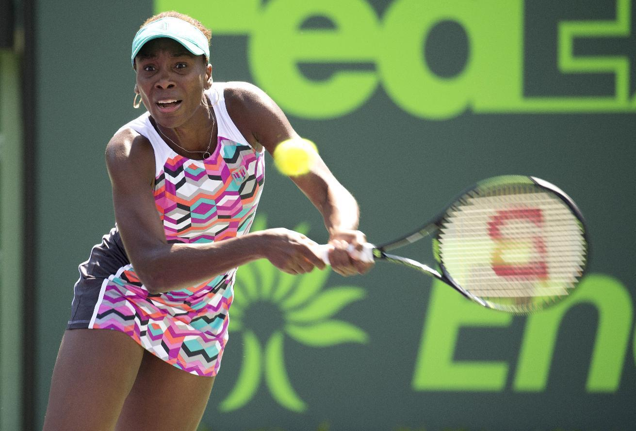 Venus Williams beats Wozniacki to reach Miami Open quarters