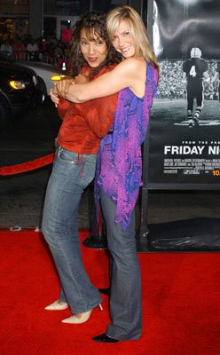 Arthel Neville and Debbie Matenopoulos at the Hollywood premiere of Universal Pictures' Friday Night Lights