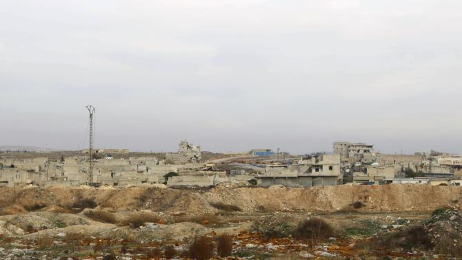 A general view shows the Aleppo International airport after Free Syrian Army fighters regained control of the airport