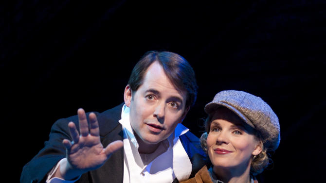 "In this publicity photo provided by Boneau/Bryan-Brown, Matthew Broderick, left, and Kelli O'Hara perform in the new musical comedy ""Nice Work If You Can Get It"" at Broadway's Imperial Theatre in New York. (AP Photo/Boneau/Bryan-Brown, Joan Marcus)"
