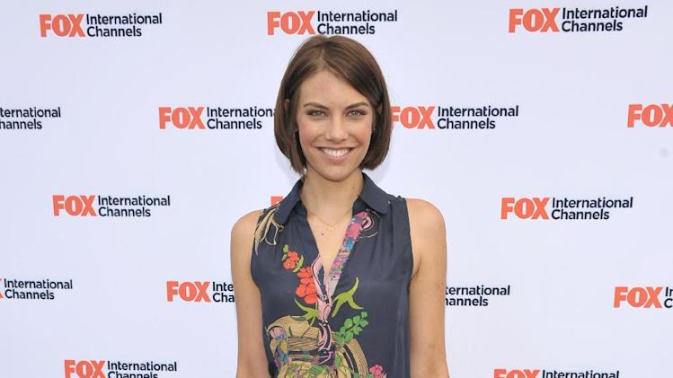 "COMMERCIAL IMAGE -  Lauren Cohan attends  AMC's ""The Walking Dead"" Fox Breakfast on Friday July 13, 2012, in San Diego. (Photo by John Shearer/Invision for AMC/AP Images)"