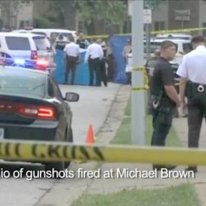 Purported audio of gunshots fired at Michael Brown