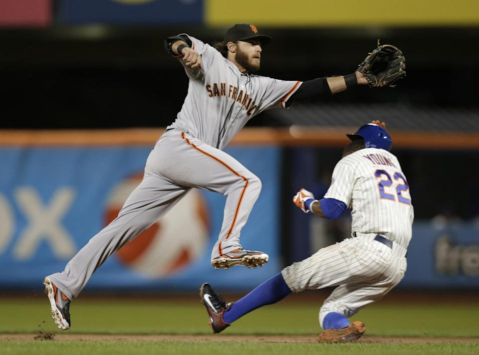 Angel Pagan's big night leads Giants over Mets 8-5