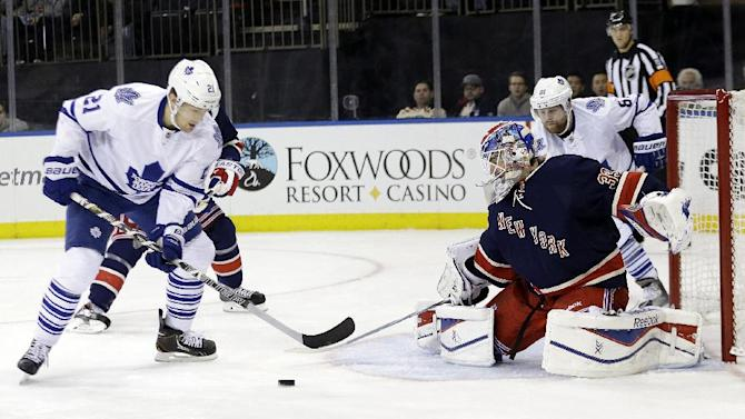 Talbot wins again, leads Rangers over Maple Leafs