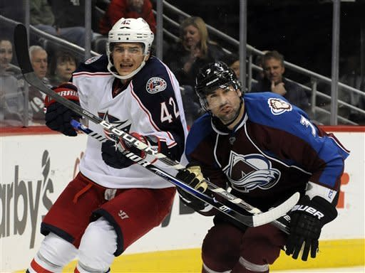 Duchene leads Avalanche over Blue Jackets 4-0