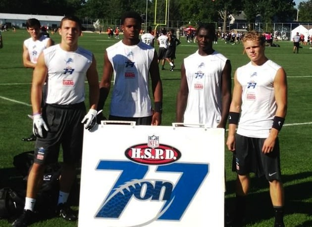 The Detroit Lions squad which won the NFL 7-on-7 National Championship