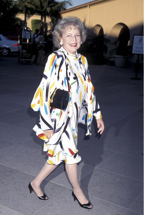 Betty in a printed look