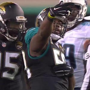 Jacksonville Jaguars defensive end Ryan Davis sack and selfie