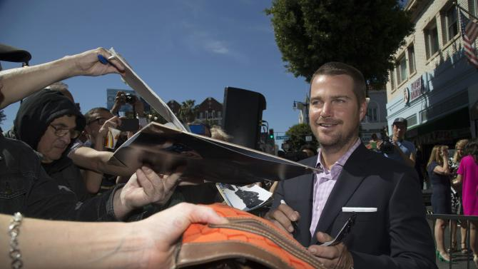 Actor O'Donnell signs autographs after unveiling his star on the Hollywood Walk of Fame in Los Angeles