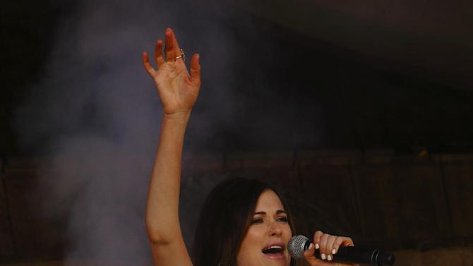 Kacey Musgraves performs at the New Orleans Jazz & Heritage Festival on Sunday, May 3, 2015, in New Orleans, Louisiana. (Photo by John Davisson/Invision/AP)